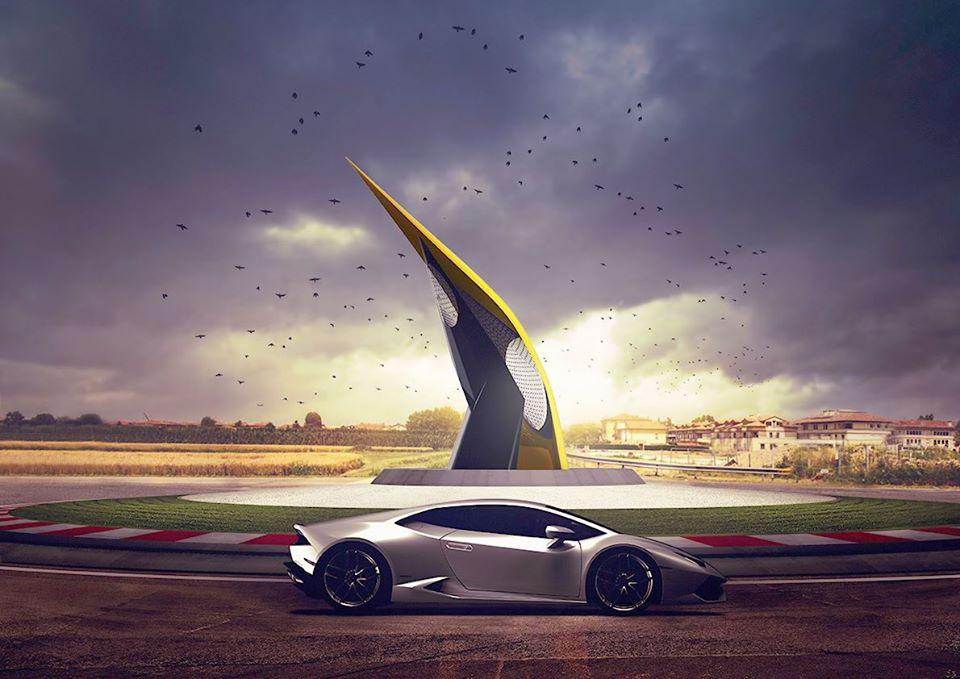 Lamborghini Road Monument (1)