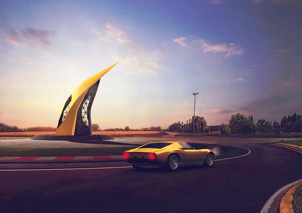 Lamborghini Road Monument (3)