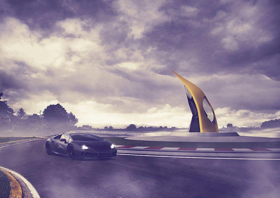 Lamborghini Road Monument (6)