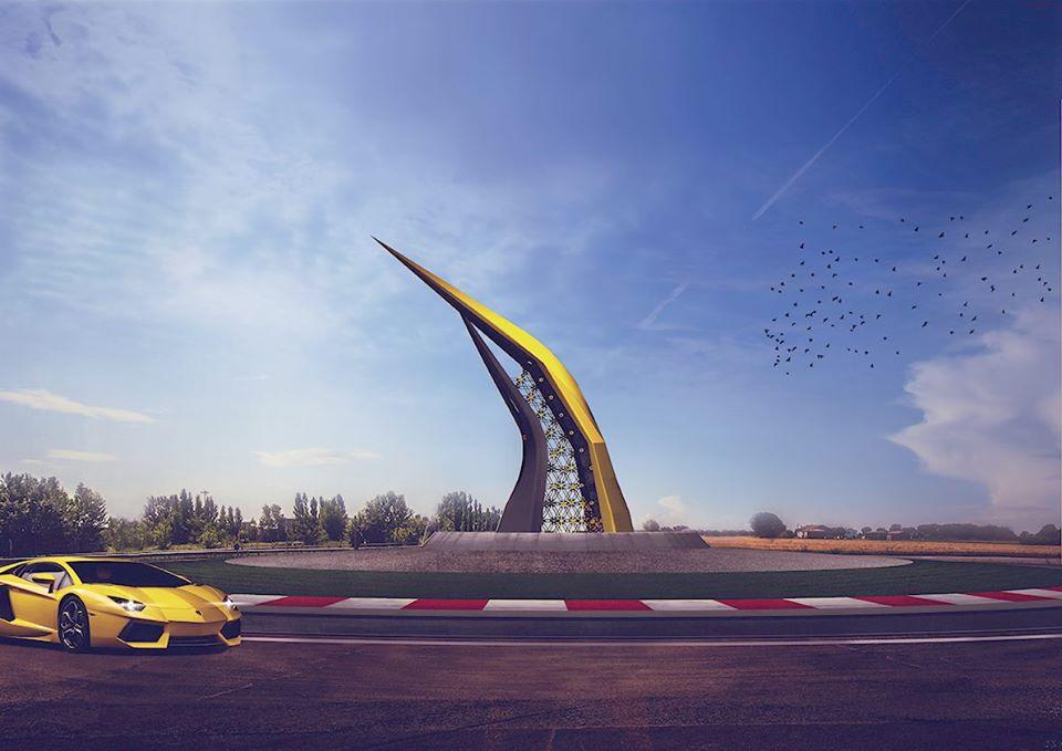 Lamborghini Road Monument (8)